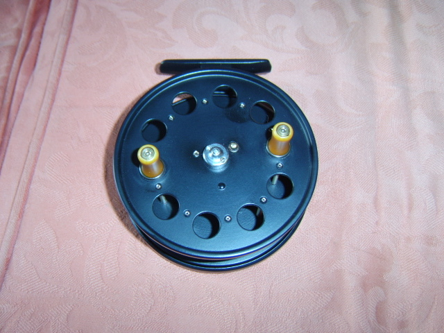 A fully restored 4' Speedia wide drum centrepin reel