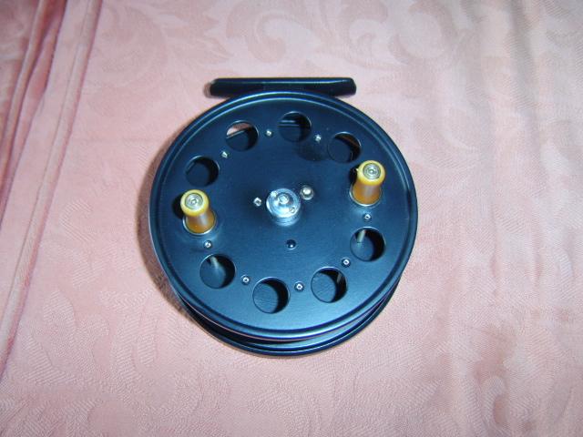 A fully restored 4' Speedia wide drum centrepin reel