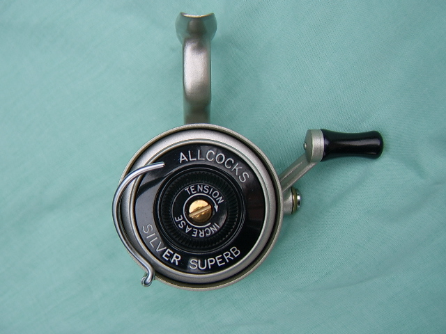 Allcocks Silver Superb threadline reel, circa 1950,s
