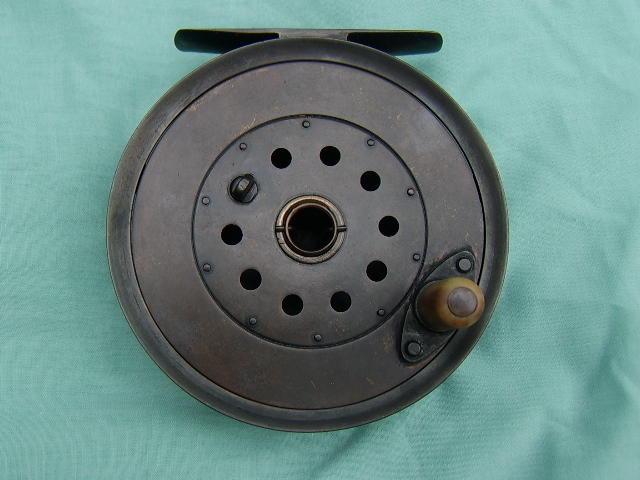 Moscrops of Manchester bronze 5 inch salmon reel, circa 1910