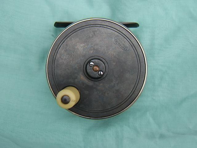 A Turnball 4 inch brass and ebonite salmon reel, circa 1910