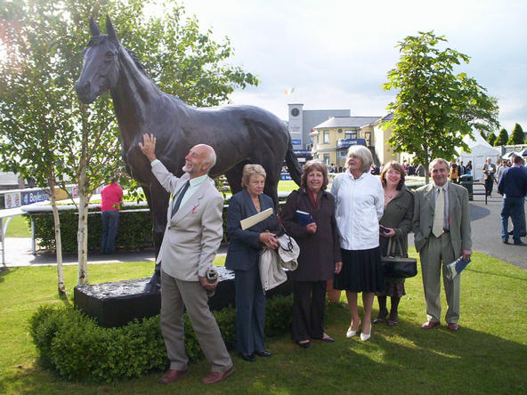 Terry Locke congratulates the last horse to win the Triple Crown.........NIJINSKY