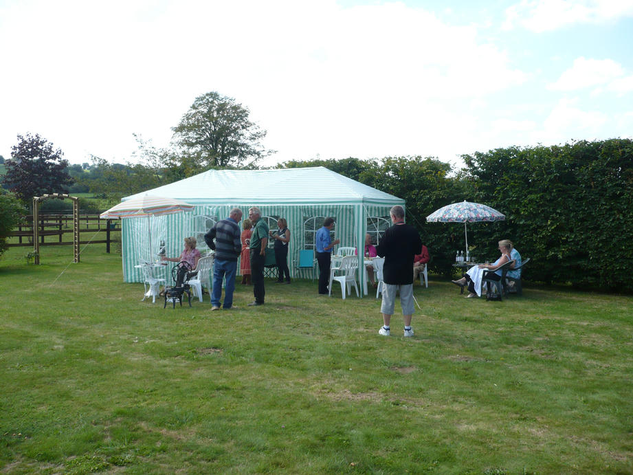 members relax with a glass or two at the Harras De Dorells courtesy of Jane Philo