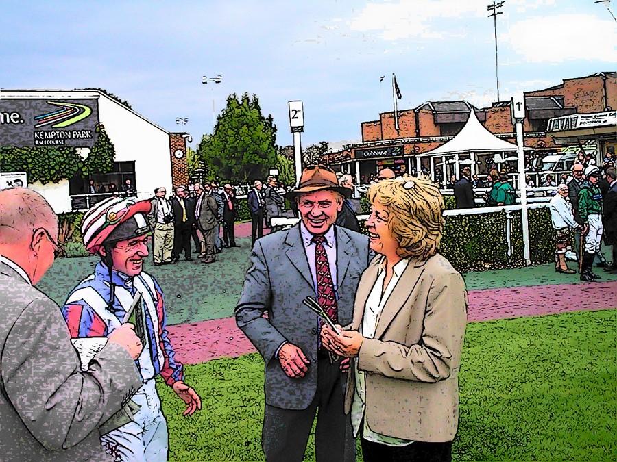 John Bridger discuss tactics with John Egan