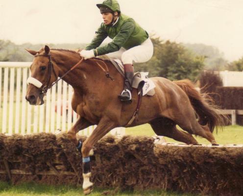 Mark Hoad in action as a jockey