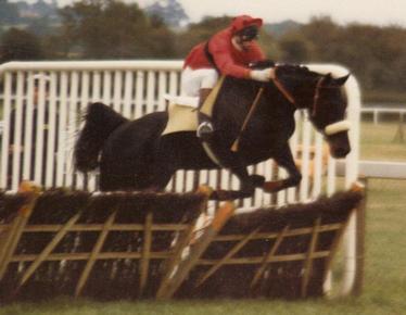 Mark Hoad in action as a jockey at Plumpton