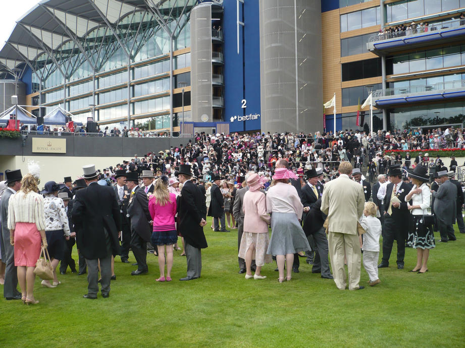 members soak up the atmosphere in the parade ring