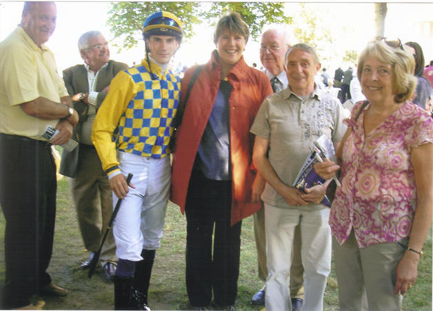 In the parade ring at Clairfontaine with a winner!