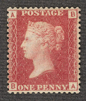 penny red stamps used abroad